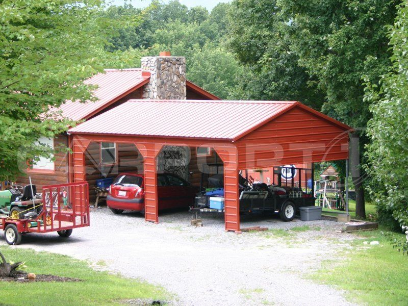 Sideentry carports are perfect for all kinds of shelter