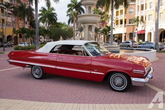 1963 Chevrolet Impala Convertible Classic Cruiser Red Chevrolet Impala Impala Classic Camaro