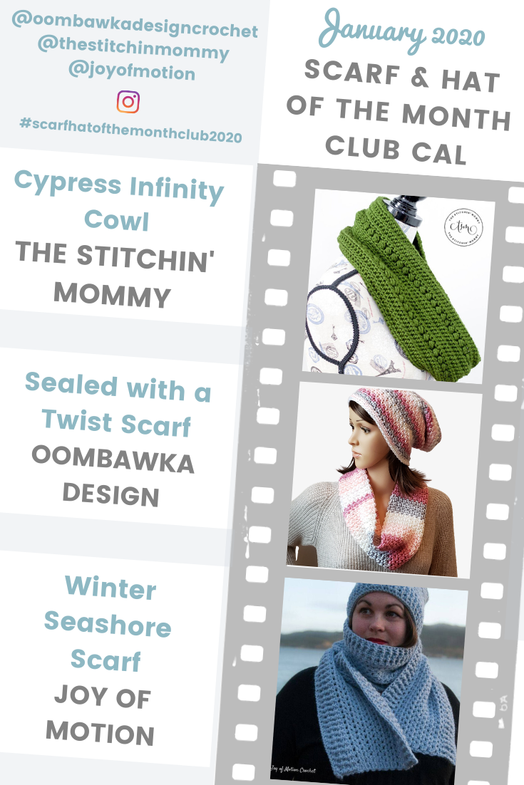 January 2020 Scarf Hat Of The Month Club Cal Scarf Post 1 In