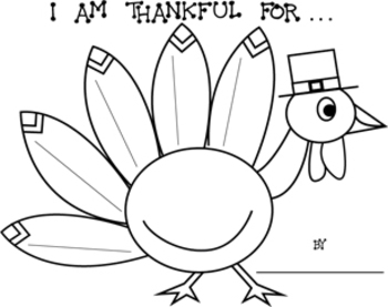 Thanksgiving I Am Thankful For Turkey Printable