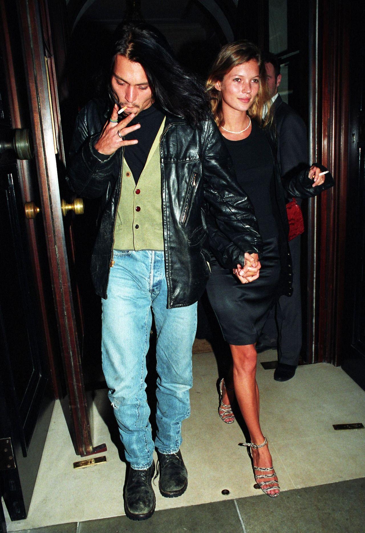 Johnny Depp .1994 Kate Moss
