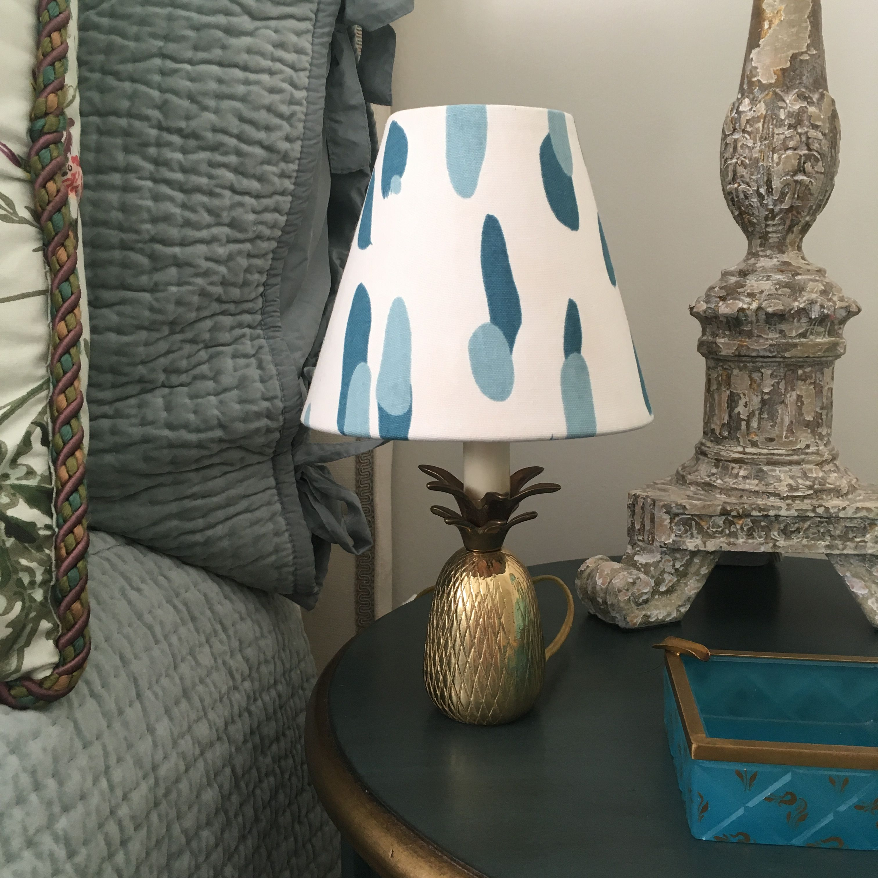 Marport Ceramic Table Lamp Temple Webster Lamp Blue Lamp Shade