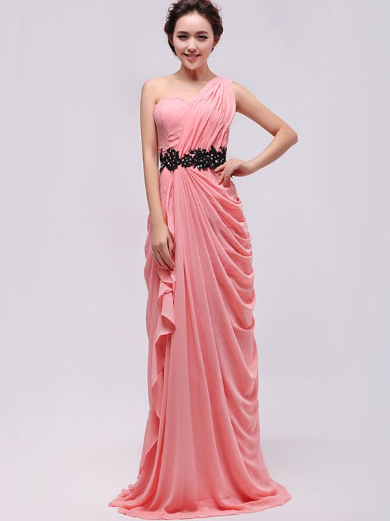Pink bridesmaid dress - Summer pink homecoming dress / chiffon ...
