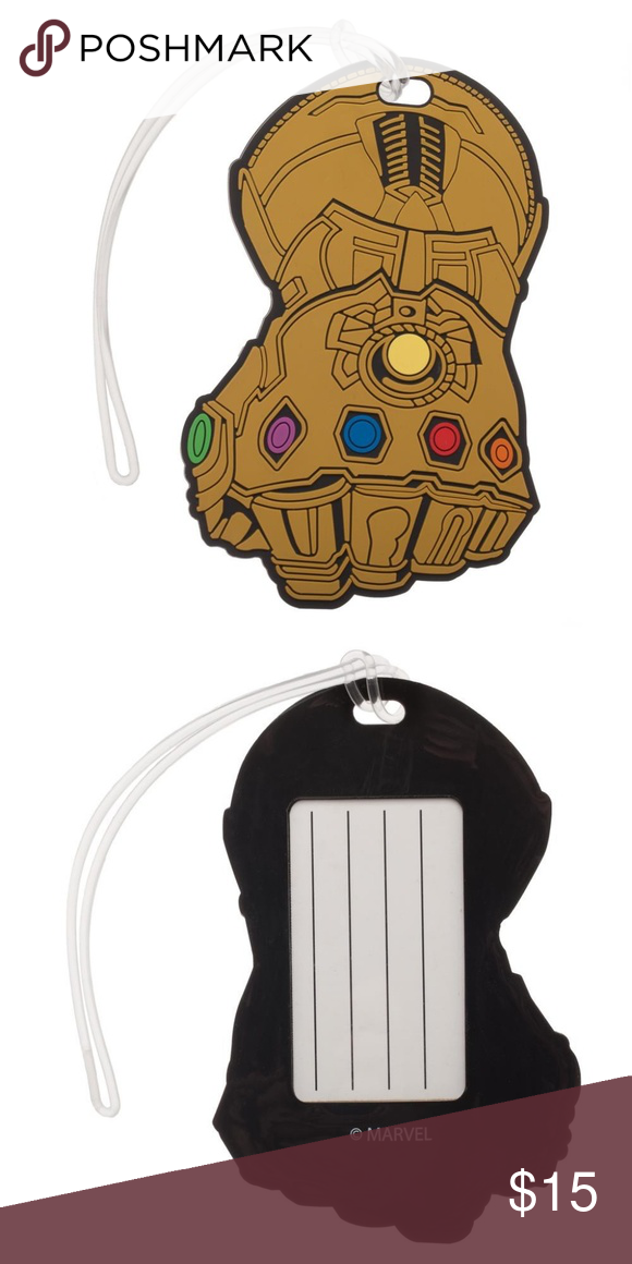 5378990d5946 Avengers Thanos Infinity War Gauntlet Luggage Tag This is for 1 Avengers:  Infinity War themed
