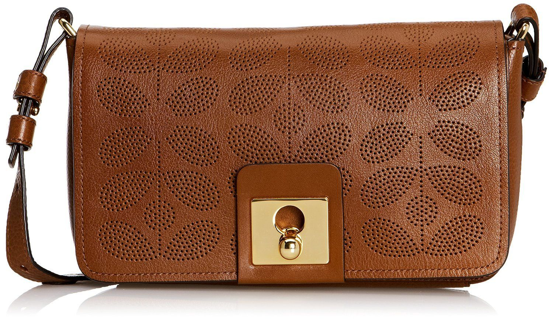 Womens Travel Leather Cross Body Handbag, One Size Orla Kiely