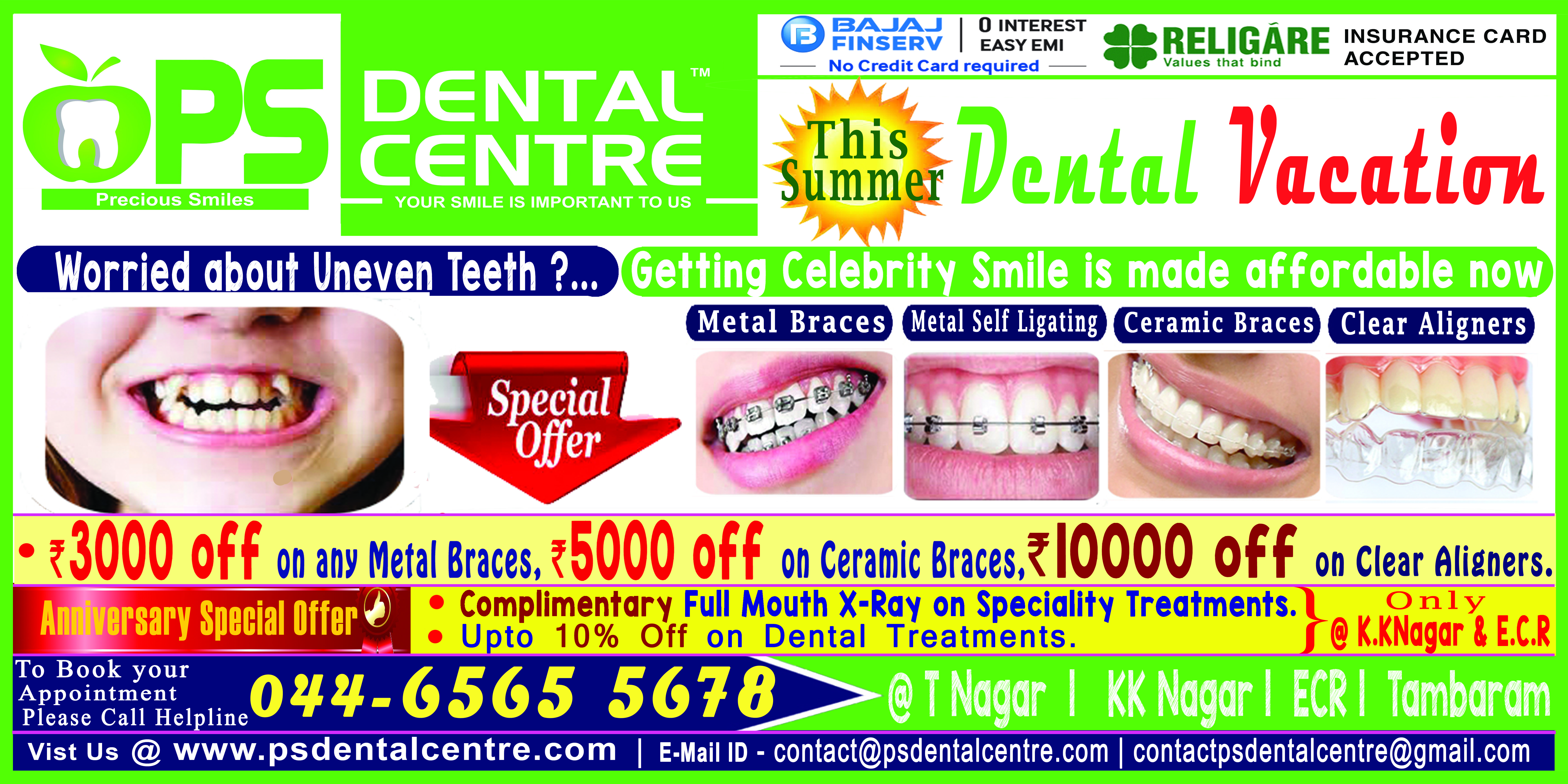 Dental vacation psdentalcentre in chennai for more