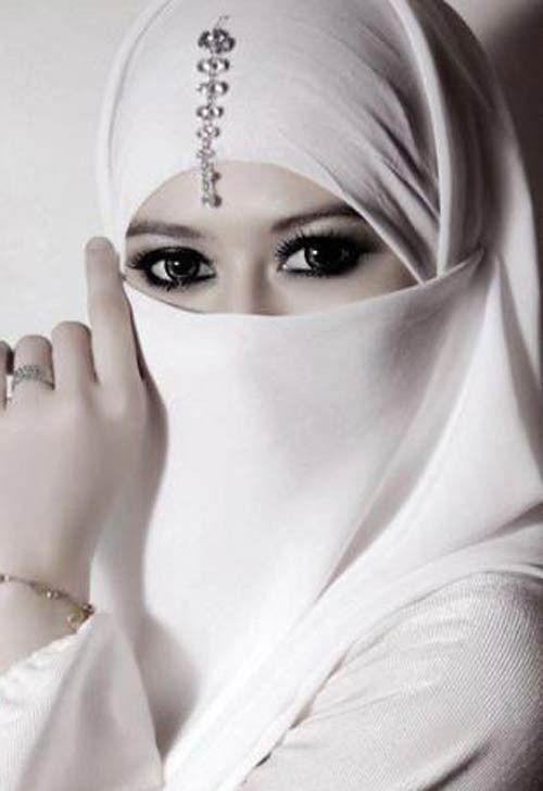 White Half Niqab Nikab Veil Burqa Hijab Face Cover Islamic Muslim