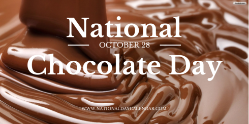 National Chocolate Day October 28 National Day Calendar Chocolate Day National Chocolate Cake Day International Chocolate Day