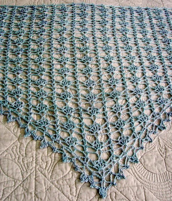 Stylish Easy Crochet: Crochet Lace Shawl For Summer - Pattern SHAWL ...