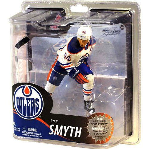 Mcfarlane Toys Nhl Sports Picks Series 30 Action Figure Ryan Smyth Edmonton Oilers White Jersey Silver Collector L Sports Games For Kids Edmonton Oilers Oilers