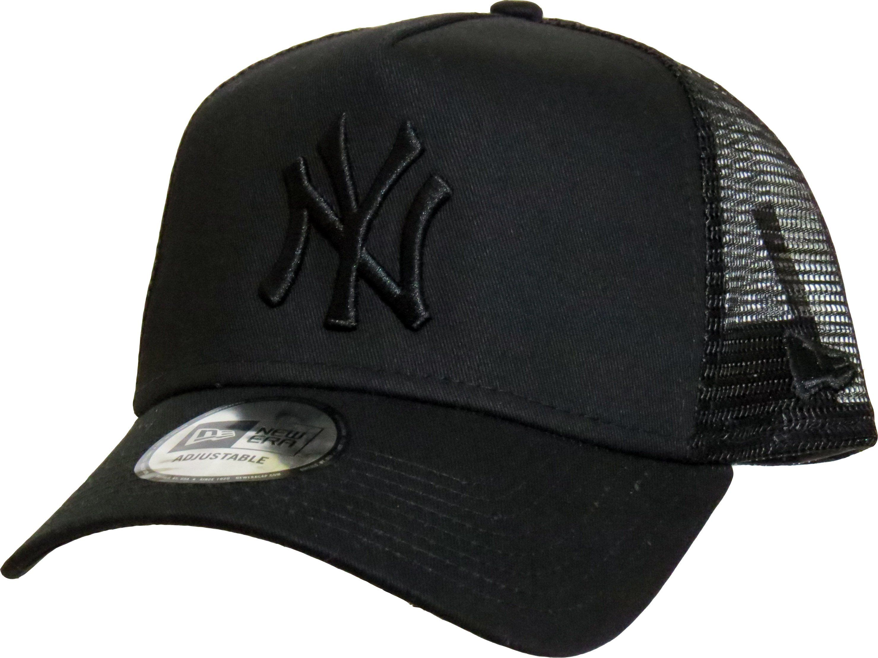 NEW ERA New York Yankees Clean A Frame Trucker Cap Black BNWT