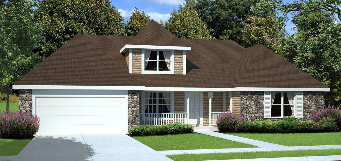 4 bedroom house plan: livingstone | 84 lumber. sloping ceilings and