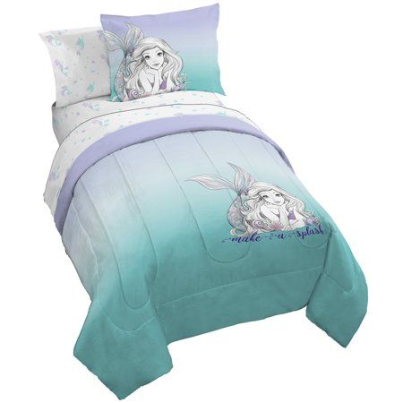 Dream Bay 3 Piece Duvet Cover Set Blue Mermaid Fish Scales Bed Sheet 1 Duvet Cover with 2 Pillow Shams Soft Breathable 110 GSM Microfiber Queen
