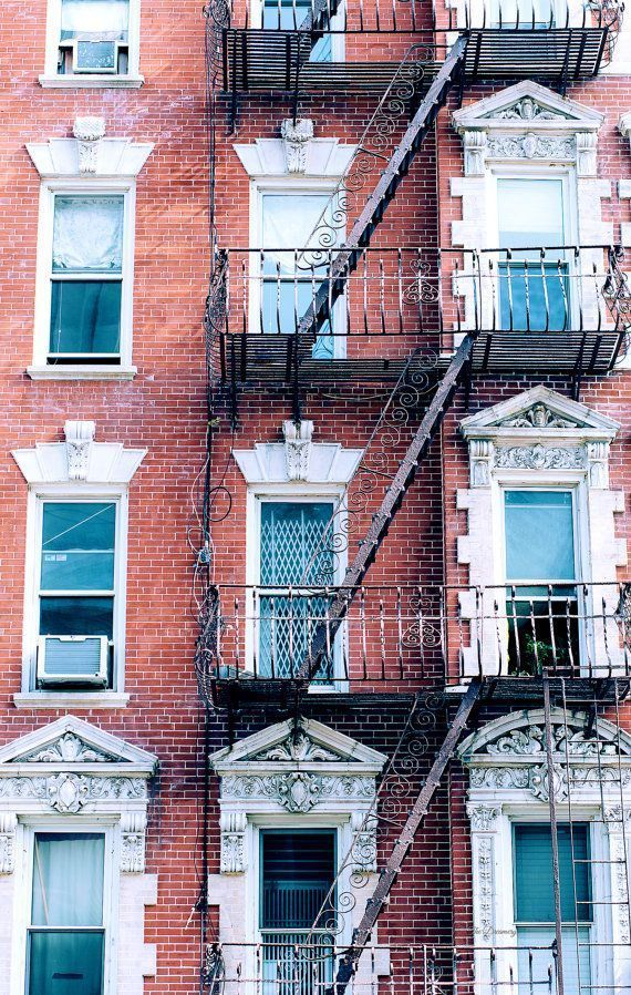 new york city photography, nyc photography, urban decor, new york city architecture, large wall art, nyc decor, nyc fire escapes - Sharlene Lowery