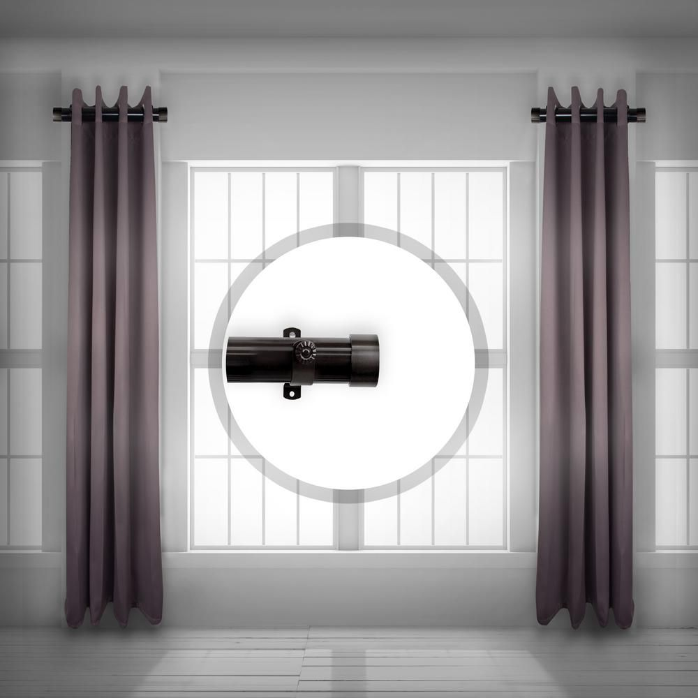 Rod Desyne 1 5 Inch Side Single Curtain Rod Adjustable 12 20 Inch Long Set Of 2 Satin Nickel Curtain Rods Finials For Curtain Rods White Curtain Rod