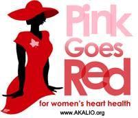 Alpha Kappa Alpha pink goes red shirt