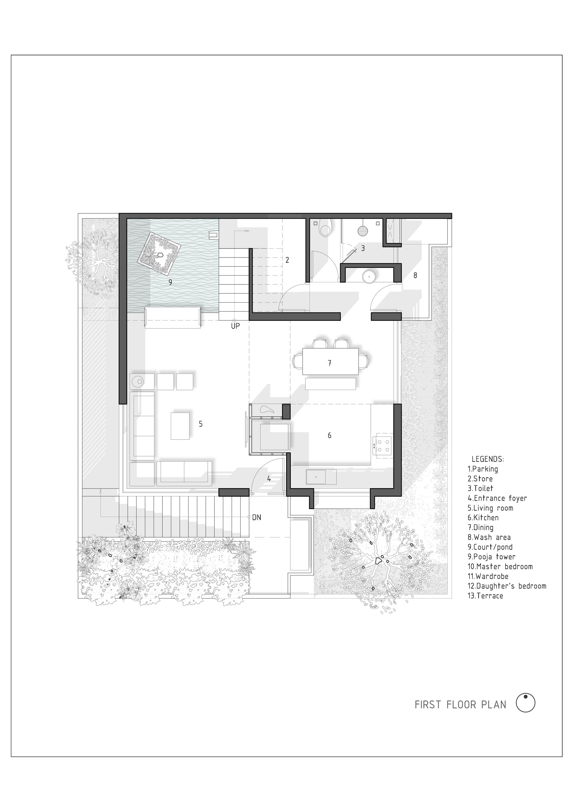 Gallery Of The H Cube House Studio Lagom 23 How To Plan Floor Plans House Flooring