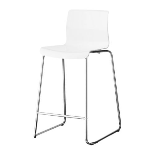 Glenn Bar Stool White Chrome Plated 30 3 8 White Bar Stools Ikea Bar Bar Stools