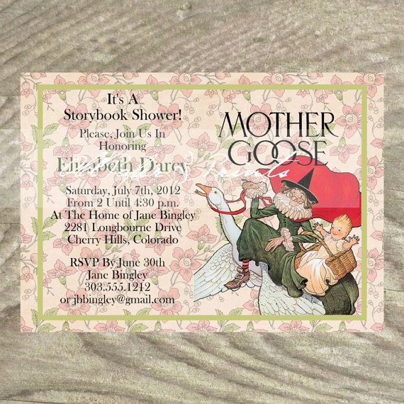 Storybook mother goose baby shower invitation by oldpaperandprints storybook mother goose baby shower invitation by oldpaperandprints 1299 filmwisefo Images