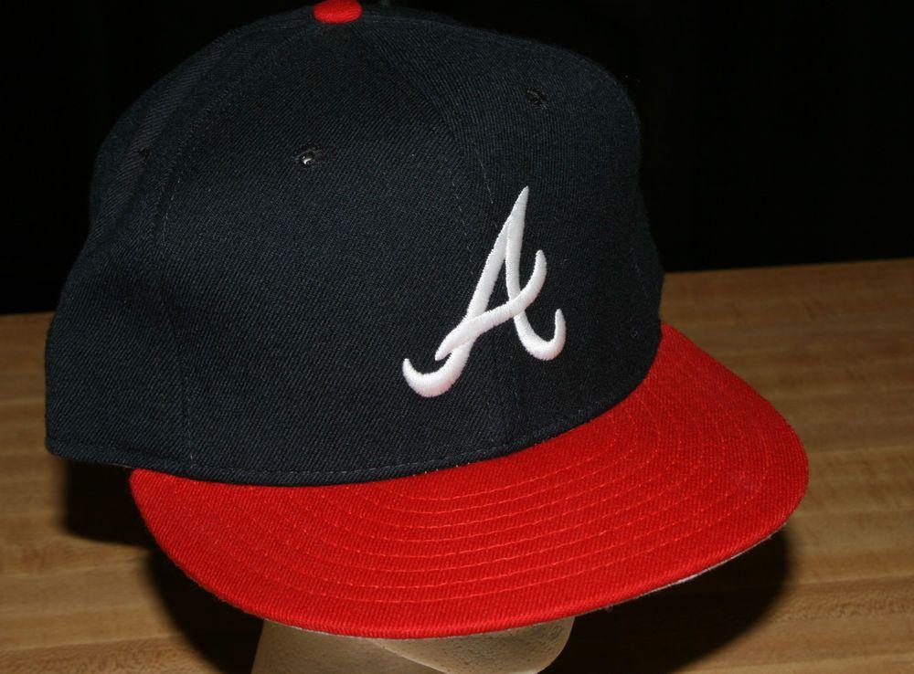 Vintage New Era Atlanta Braves Fitted Baseball Cap Hat 7 3 8 Diamond Collection Newera Atlantabraves Atlanta Braves Fitted Baseball Caps New Era