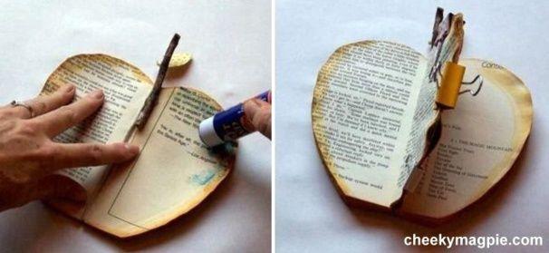 tutoriel faire une pomme livre croquons la pomme faire soi meme pliage livre et livre. Black Bedroom Furniture Sets. Home Design Ideas