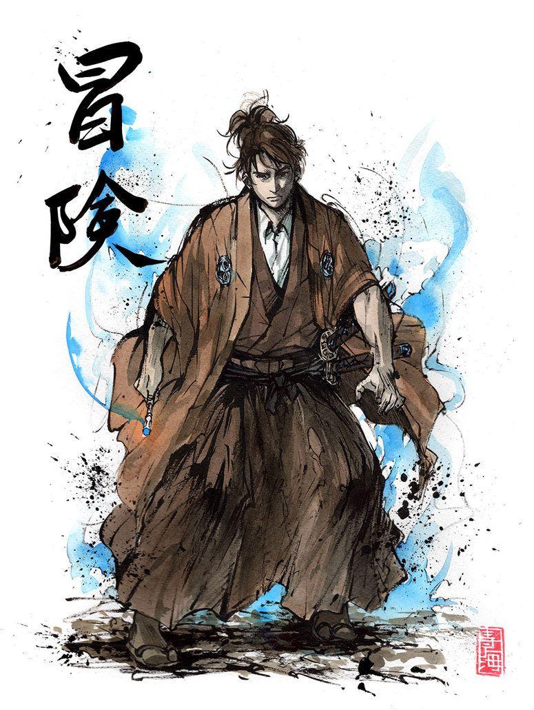 Doctor Who samurai with calligraphy by MyCKs.deviantart.com on @DeviantArt