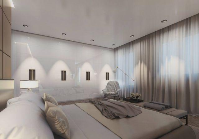 harmonievolle Gestaltung im Schlafzimmer-elegante Gardinen und - gardine f r schlafzimmer
