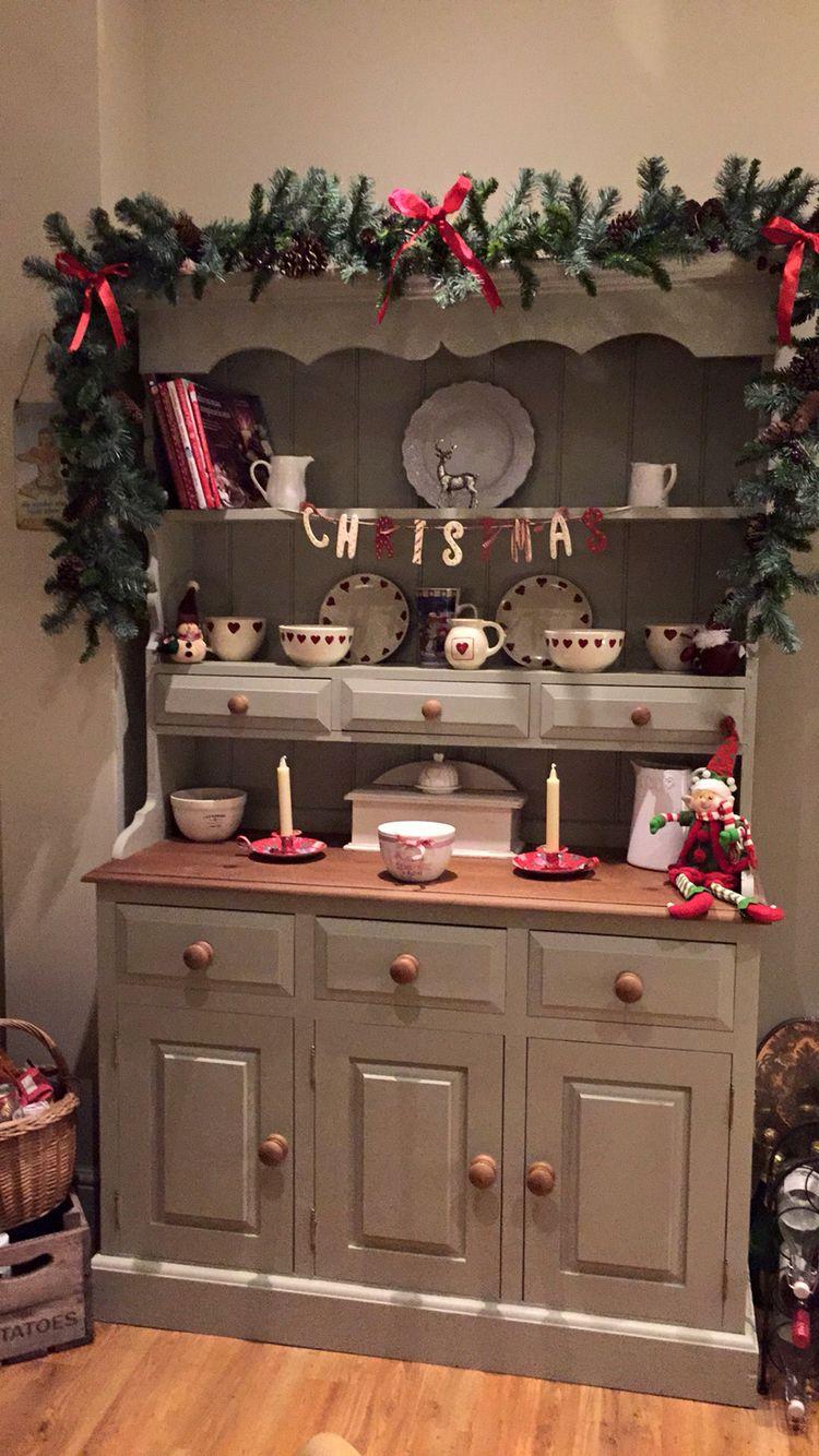 Christmas dresser