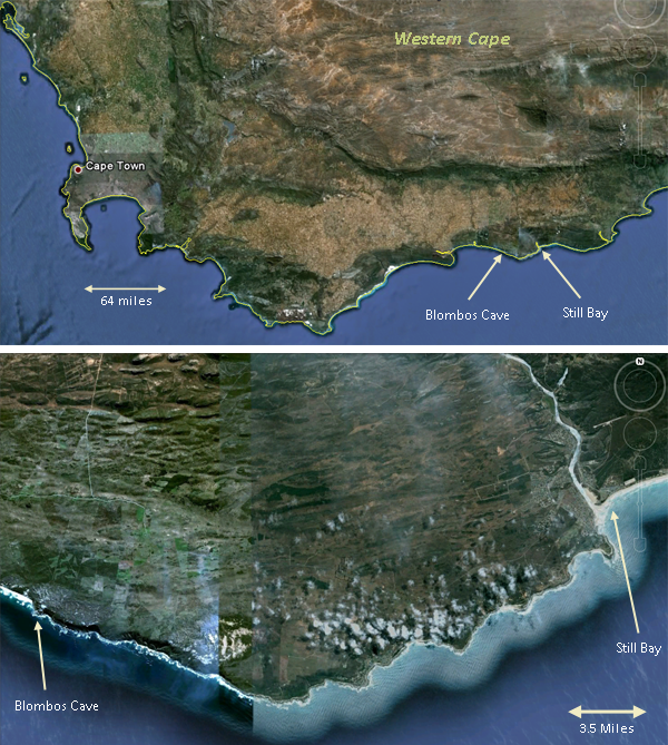 Still Bay South Africa Map Pin on Ancient Humans