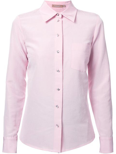 MICHAEL KORS Rhinestone Button Shirt. #michaelkors #cloth #shirt