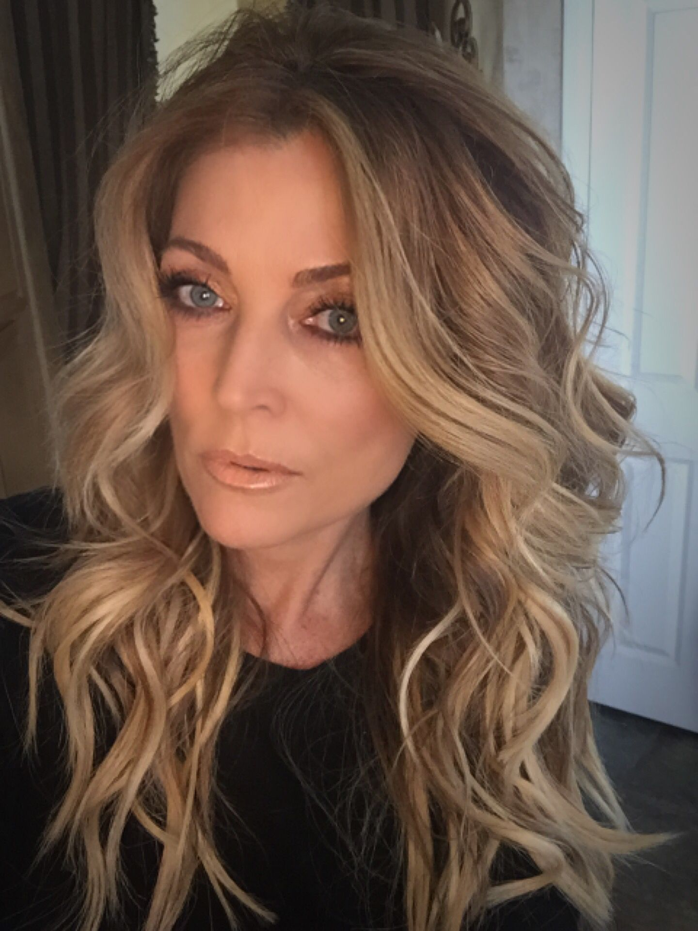 Boho beach waves made with flat iron by ergo products and
