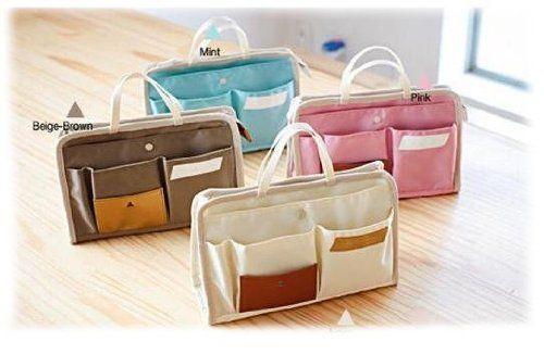 Periea Handbag Organiser Liner Insert 9 Pockets Blue Layla