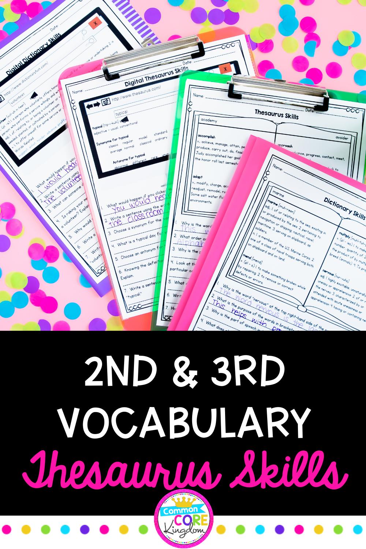hight resolution of Thesaurus Skills   Dictionary skills