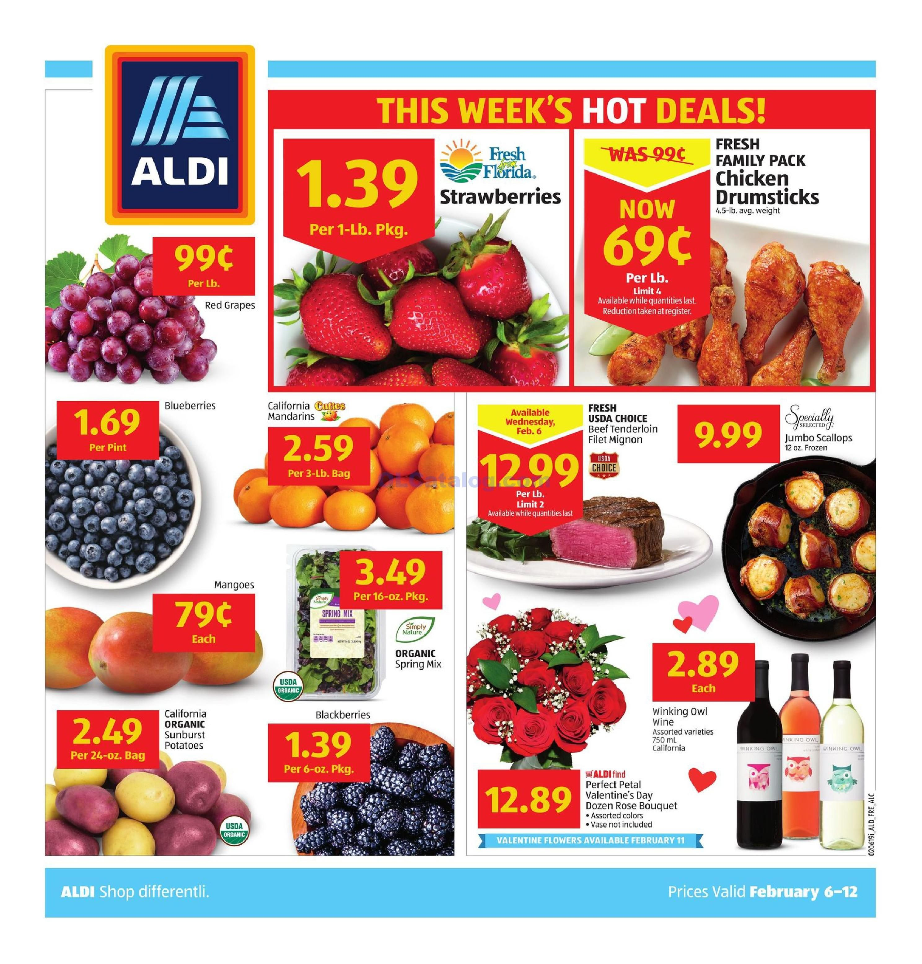Aldi Weekly Ad February 6 12 2019 View The Latest Aldi Flyer And Weekly Circular Ad For Aldi Here Likewise You Can Find The Aldi Weekly Ads Aldi Specials