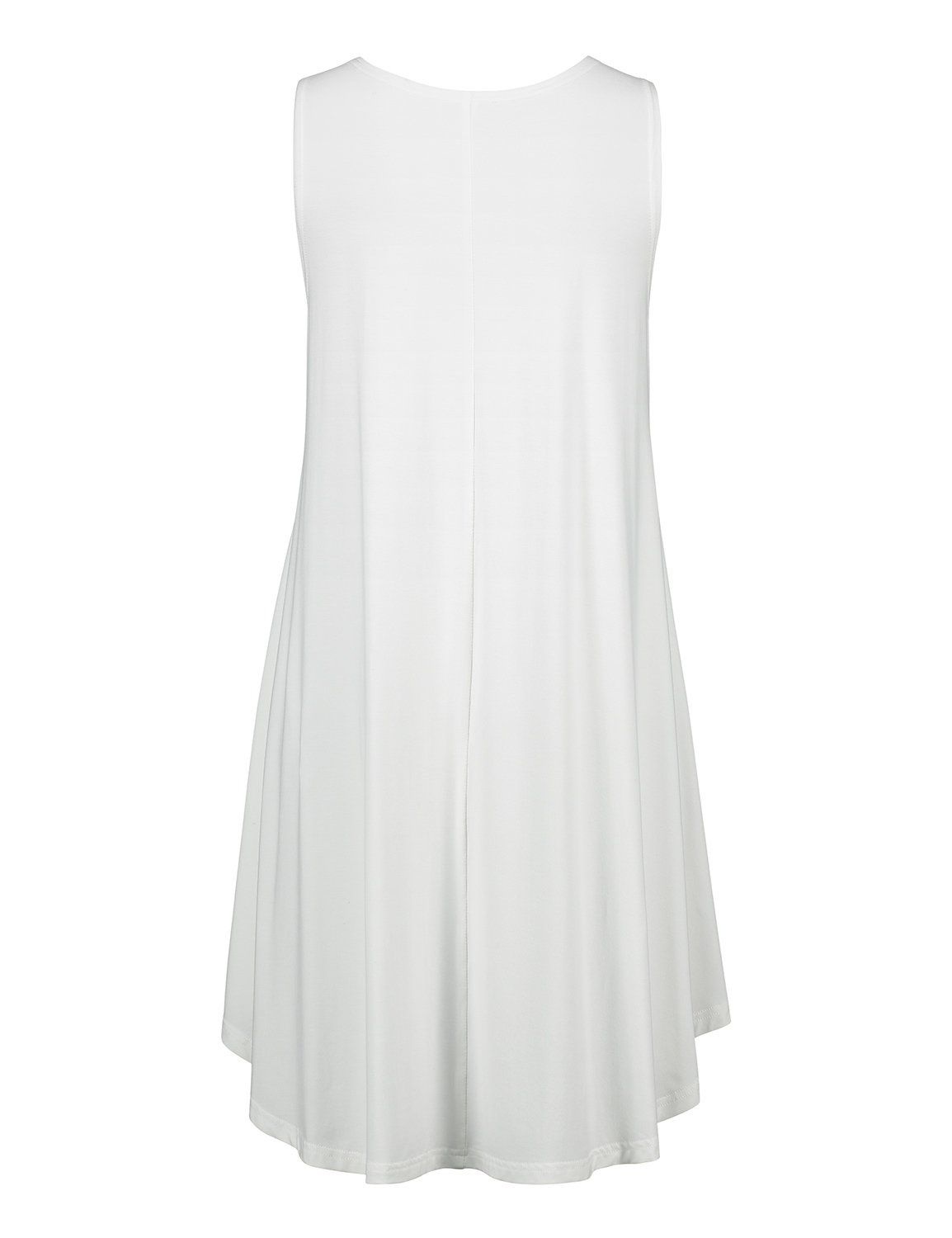 9a0e2bd8cade STYLE Womens Loose Fit Sleeveless T Shirt Dress Swing Tunic Tank Top XLarge  Milk White   More info could be found at the image url.