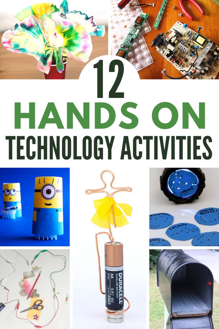 12 No Screen Technology Stem Activities For Kids The Homeschool Resource Room Elementary Stem Activities Elementary Science Activities Stem Activities