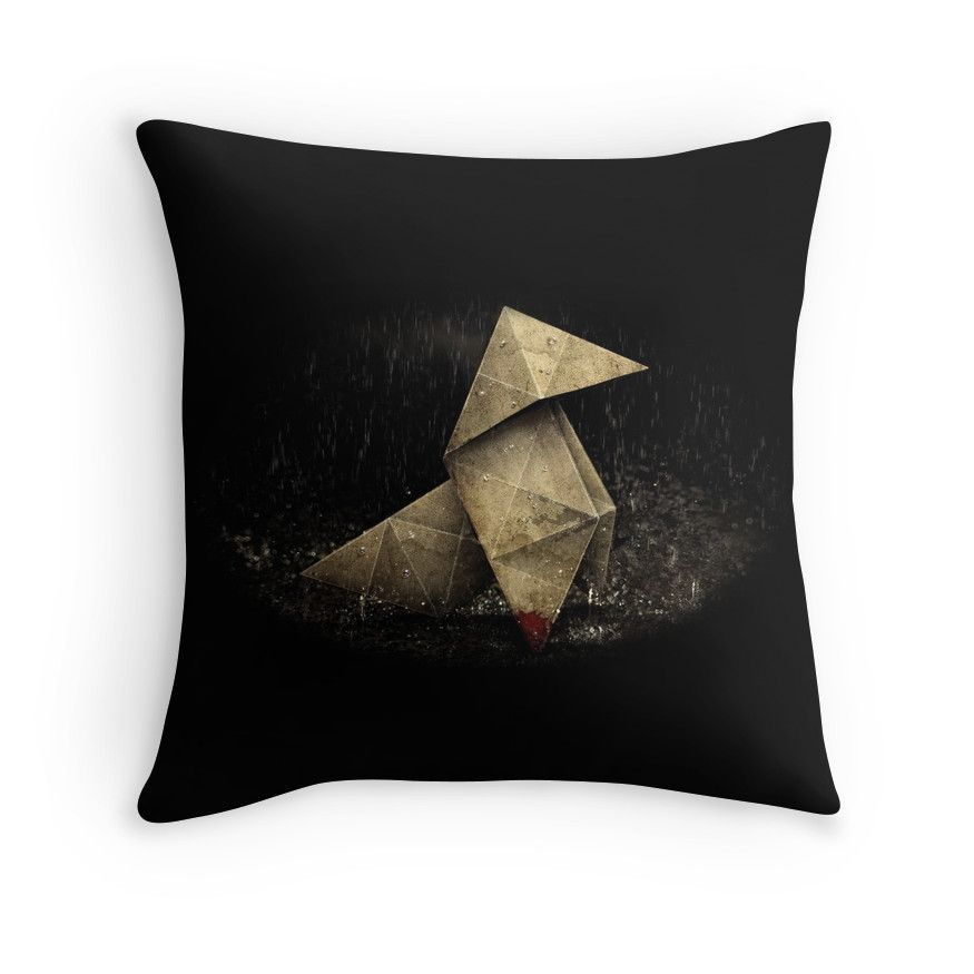 Heavy Rain Origami Figure' Throw Pillow by Ceane | Products