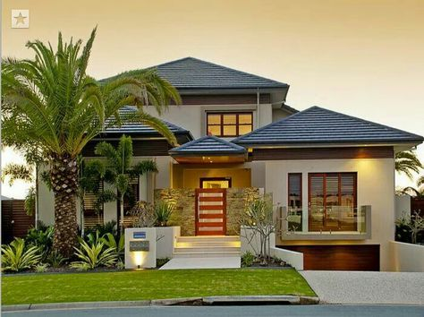 Simple And Beautiful Facade House House Designs Exterior Tropical House Design