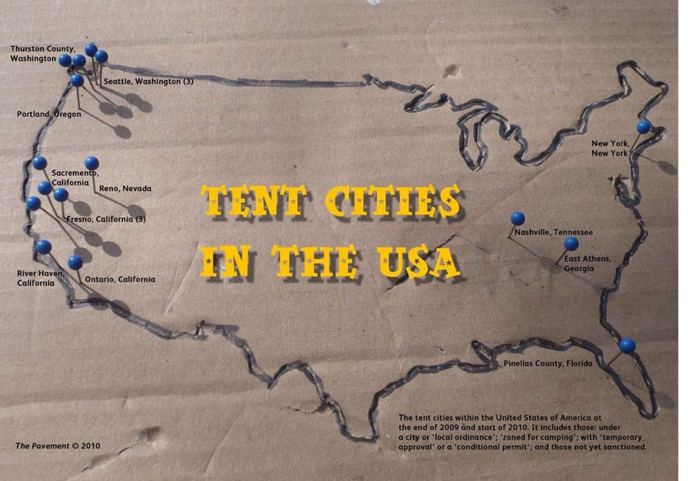 Tent cities' of homeless on the rise across the US