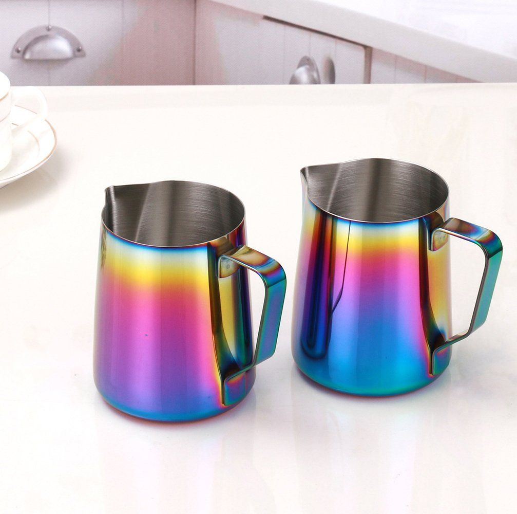 Milk frothing pitcher wehome stainless steel coffee milk frothing