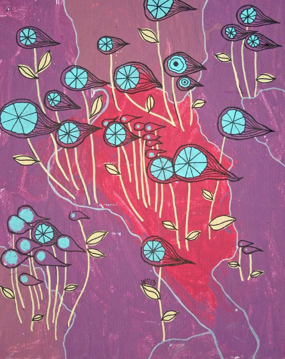 Wind Dancers - Original Acrylic Painting