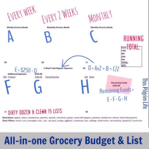 Free downloadable spreadsheet to manage grocery budgeting and planning-- Plus, it does all the number crunching for you!