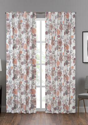 Eclipse Draft Stopper Summit Botanical Window Curtain Panel - Blush - 95