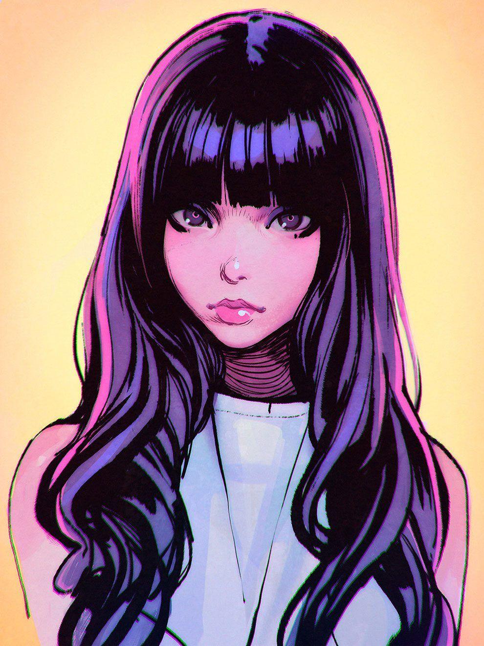 Anime Modern Girl Art