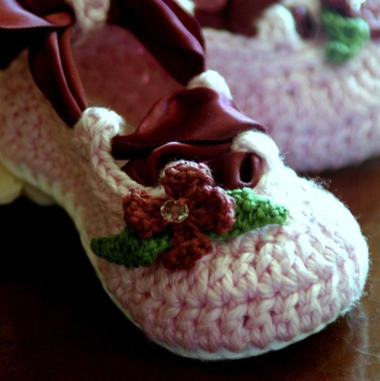 Baby Ballerina Slippers Baby Ballerina Crocheting Patterns And