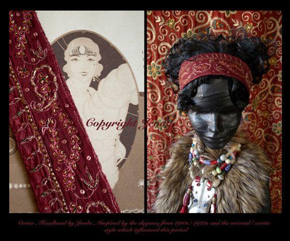 Flapper Headband/Downton Abbey Style/1920s Style by Jevda on Etsy, $24.00