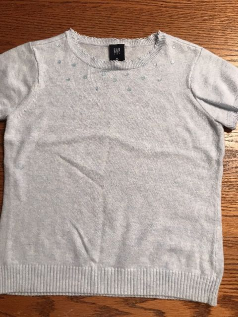 Gap Kids Girls Size Medium, 8 Light Blue, Short Sleeve Sweater ...