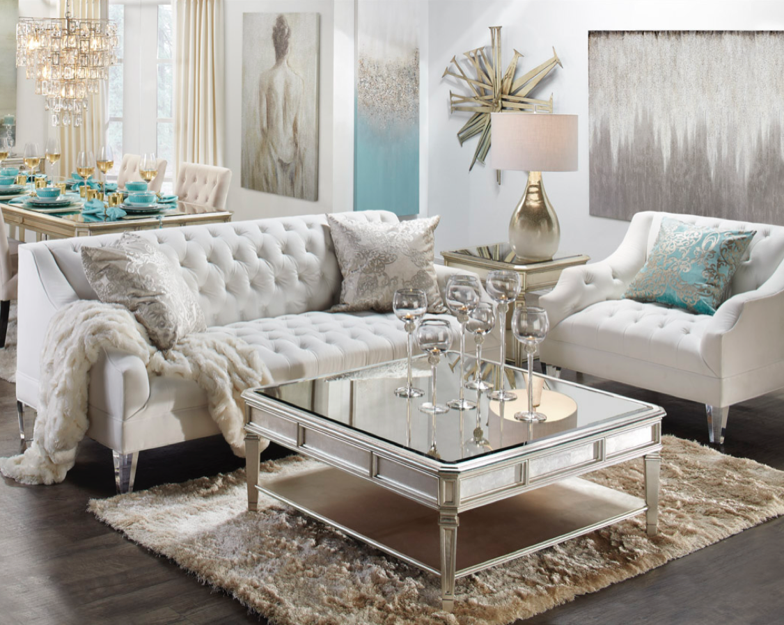 Glamorous Comfortable Fashion Living Room Sofa With