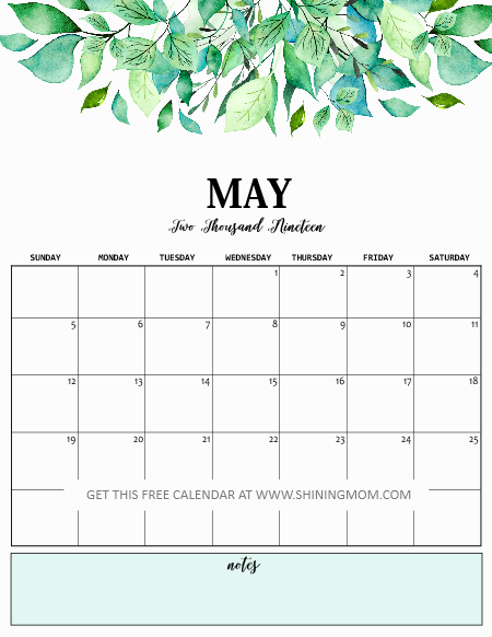 Print Free Calendar 2019 with Daily Planner! | 2019 Planner and