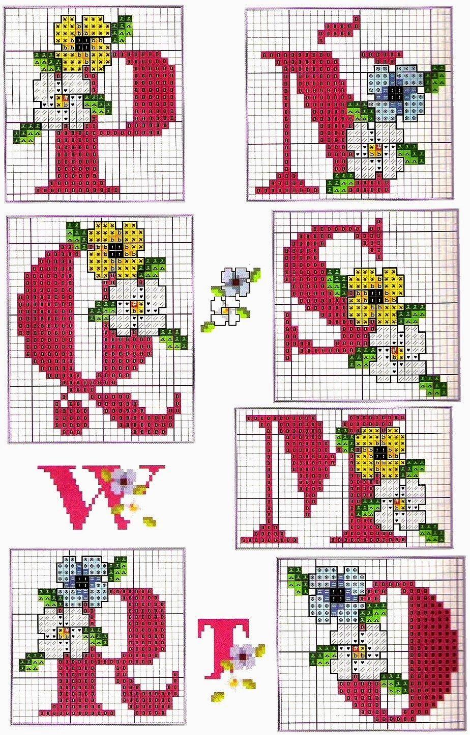 ABC com flores